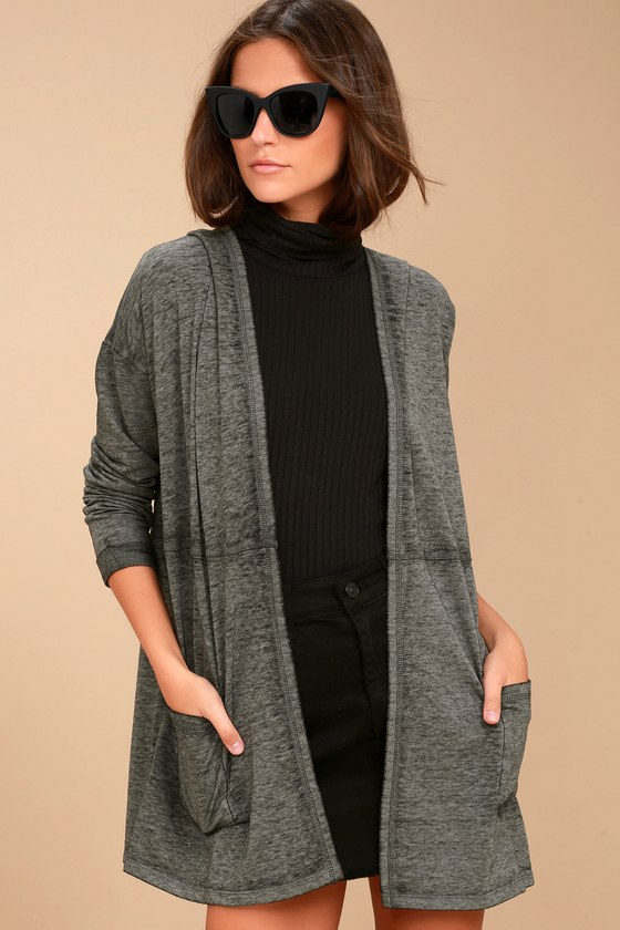 Olive & Oak Cardigan - Black Cardigan - Lightweight Sweater