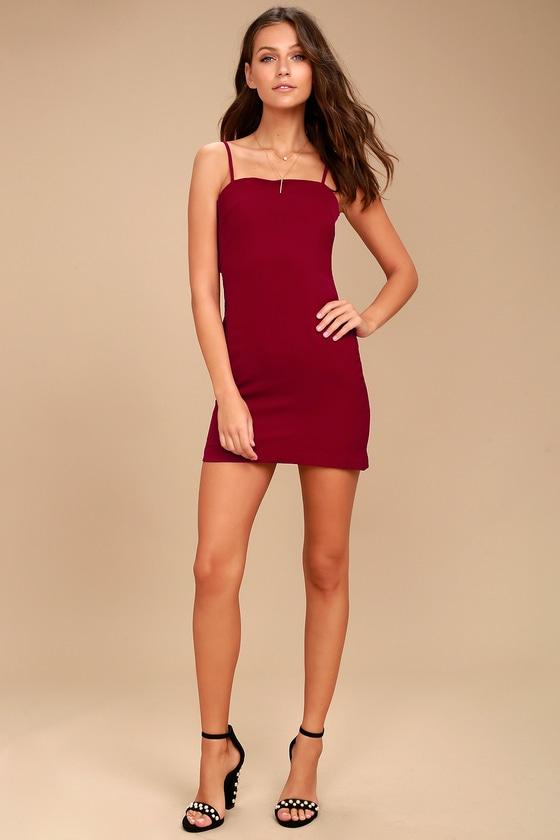 db95256bd1e Cute Red Dress - Mini Dress - Tie-Back Dress - Sheath Dress