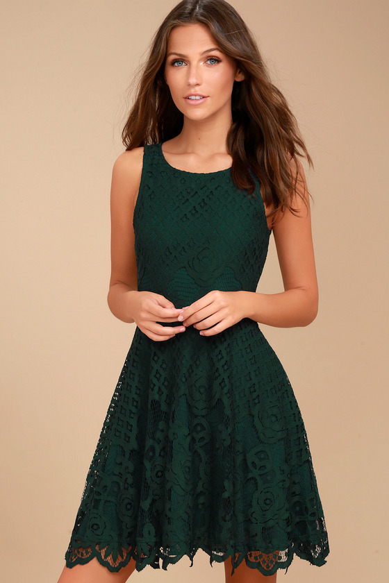 black swan desirae forest green lace dress skater dress