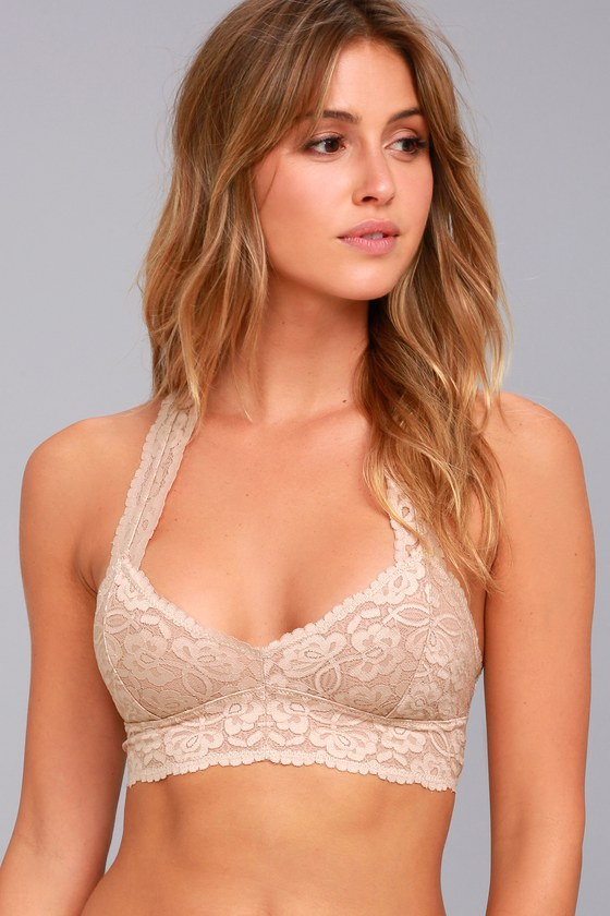 734fc6352104e Free People Galloon Racerback - Nude Lace Bralette