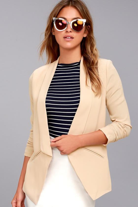 Miss Punctuality Taupe Blazer 3