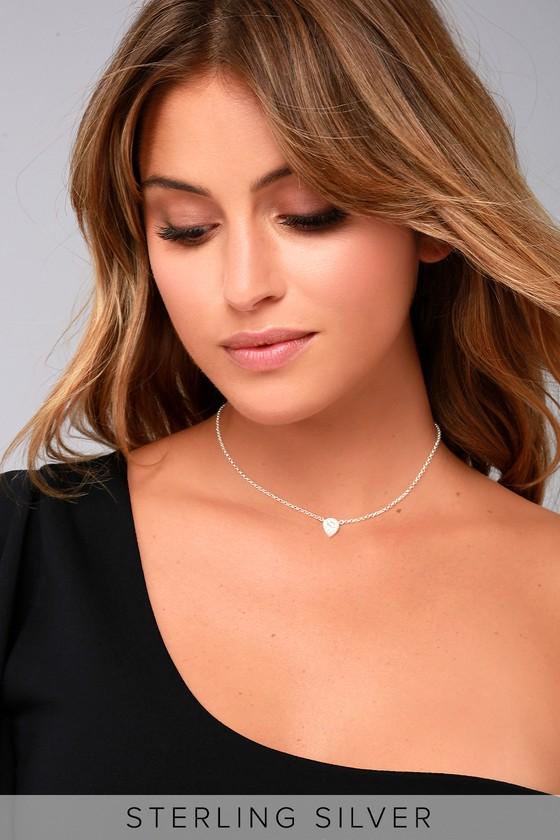 Angel Darling Sterling Silver Rhinestone Choker Necklace 4