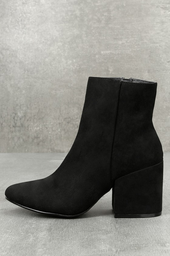 Madden Girl Arrcade Black Suede Pointed Ankle Booties 2