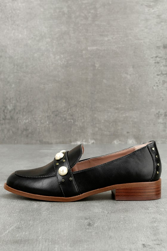 Kensie Gareth Black Pearl Loafers 1