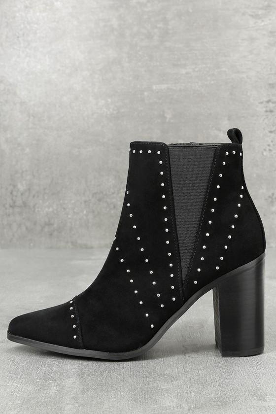 Kensie Delanie Back Suede Leather Studded Ankle Booties 1