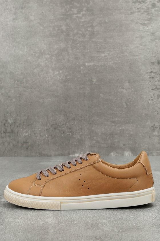 Musse & Cloud Snake Tan Leather Sneakers 1