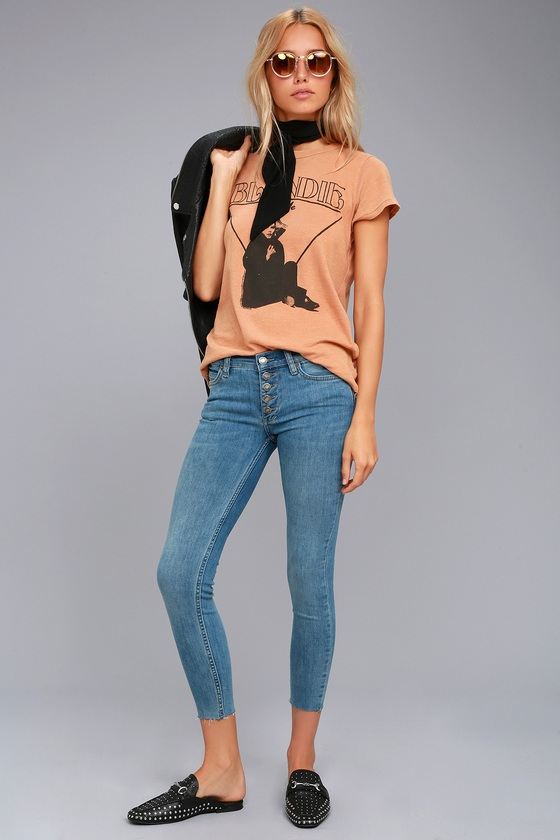 Free People Reagan Light Wash Skinny Jeans 2
