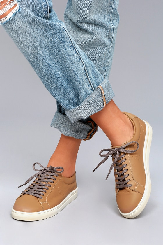 Musse & Cloud Snake Tan Leather Sneakers 5