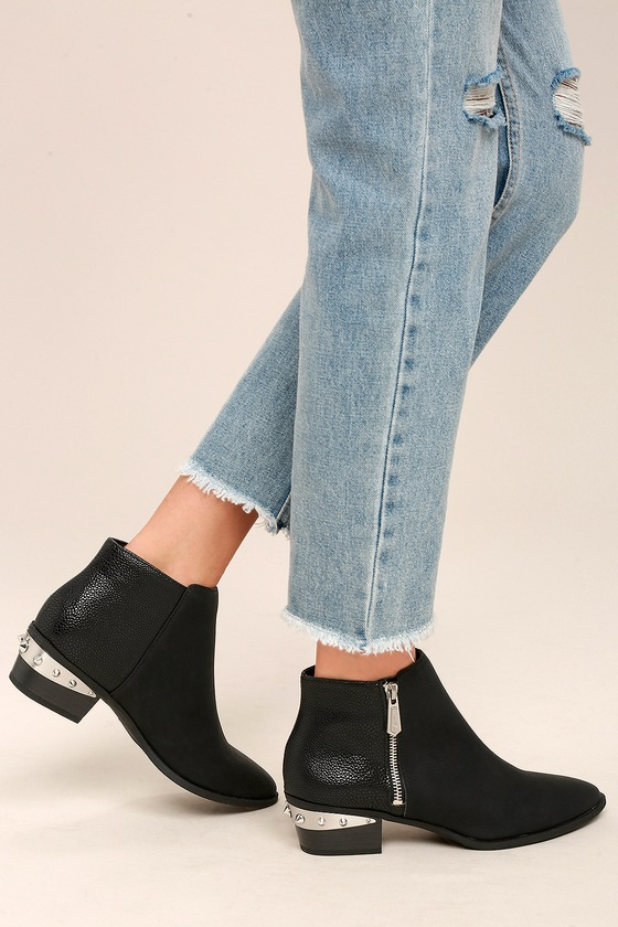 03ab6a419338a7 Circus by Sam Edelman Holt - Black Leather Ankle Boots