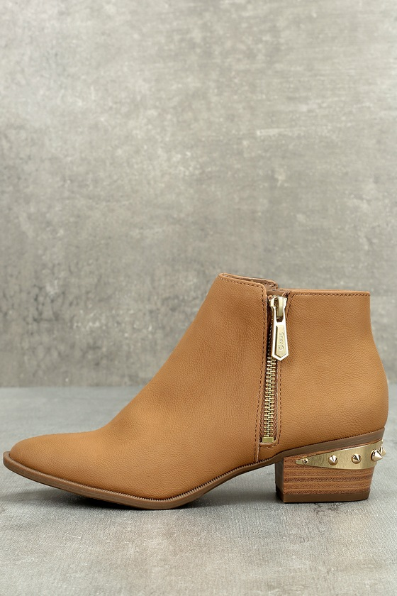 Circus by Sam Edelman Holt Golden Caramel Leather Ankle Booties 1