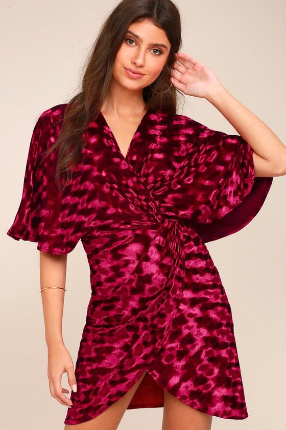 Mesmerize on the Prize Burgundy Velvet Wrap Dress 6
