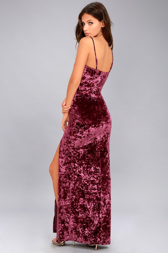 3e01af65ce98c Stunning Velvet Dress - Velvet Maxi Dress - Burgundy Dress