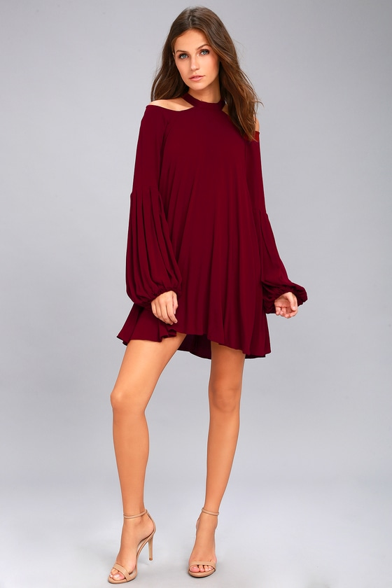 e0cd2793e6dec Free People Drift Away - Burgundy Top - Tunic Top