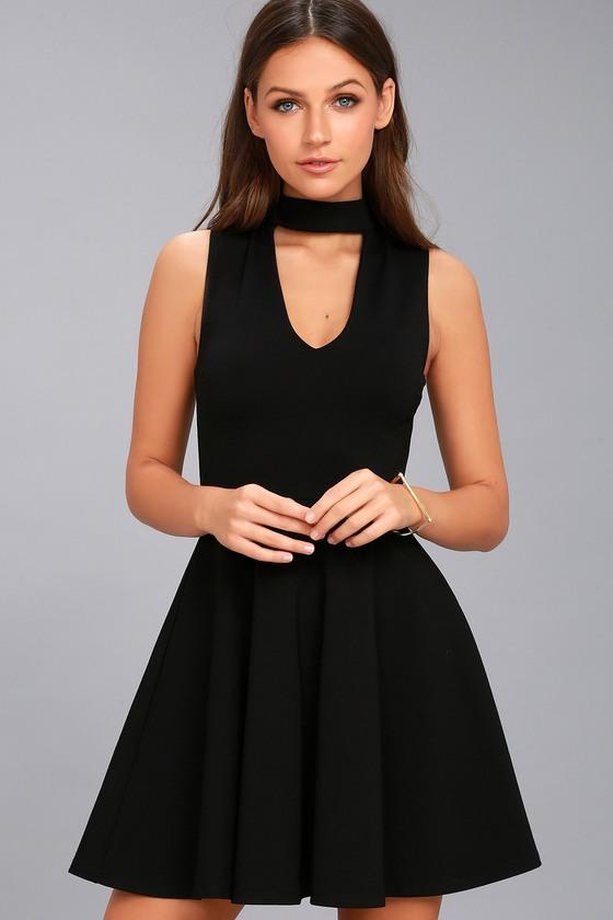 Loving You is Easy Black Skater Dress 1