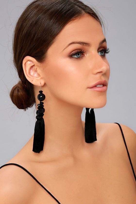 New Friends Colony No. 4 Black Tassel Earrings 3