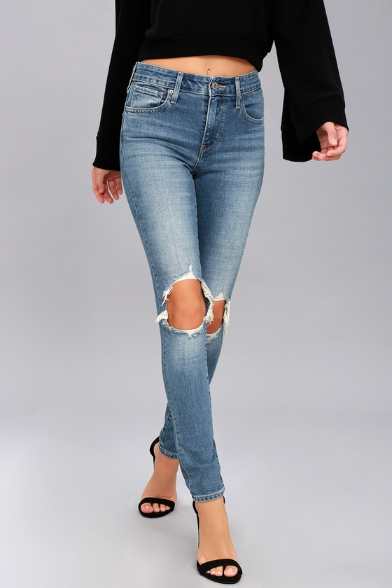 0ba9821857a6 Levi's 721 - Medium Wash Jeans - High Rise Skinny Jeans
