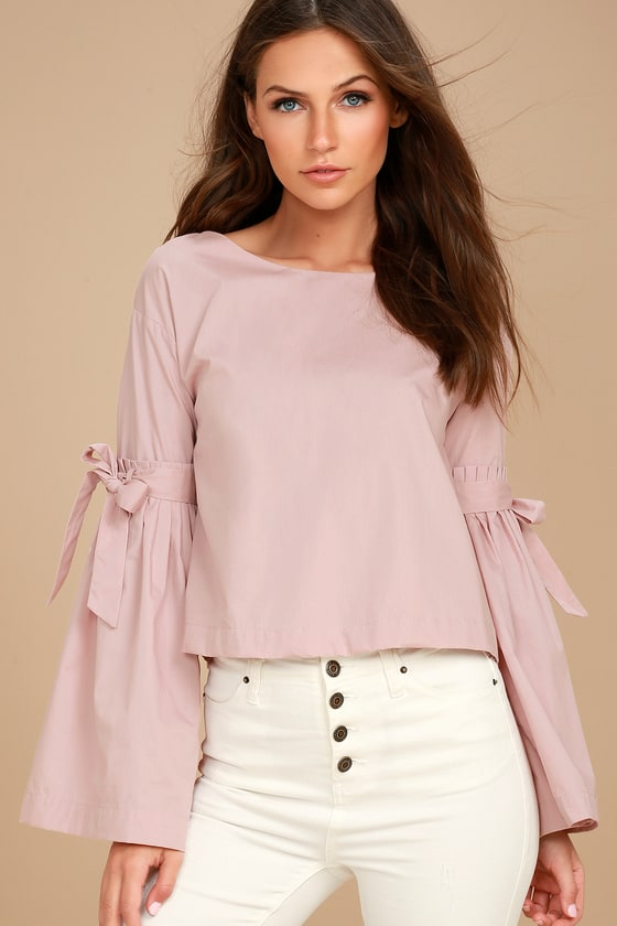 Free People So Obviously Yours Blush Pink Long Sleeve Top 6