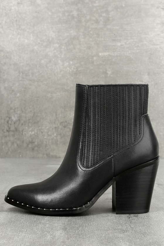 Chinese Laundry Sonya Black Leather Ankle Booties 1