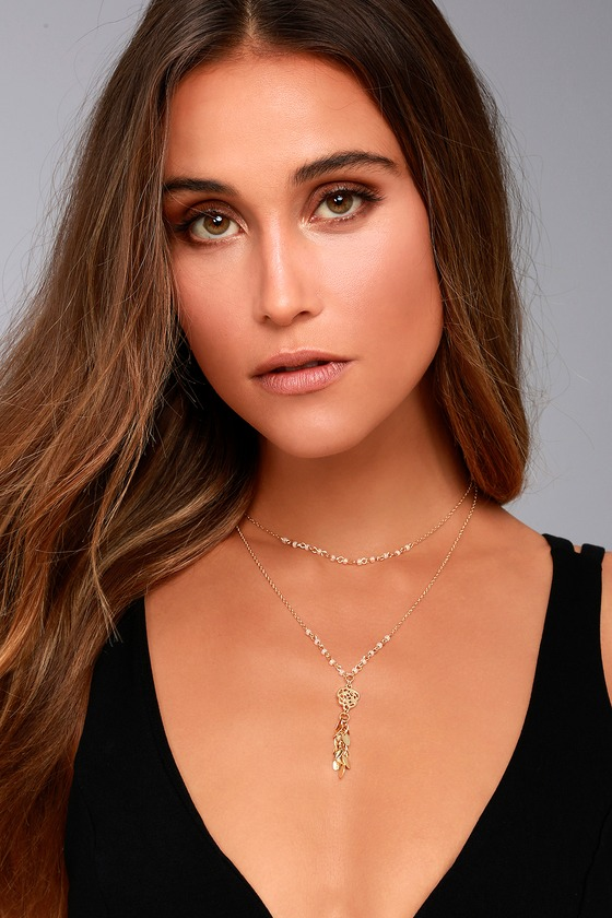 Shine All Night Gold Layered Necklace 1