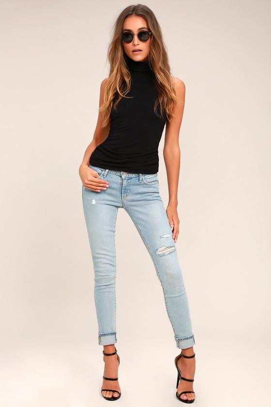 21dcf9c5ef8 Levi s 711 - Light Wash Jeans - Distressed Skinny Jeans