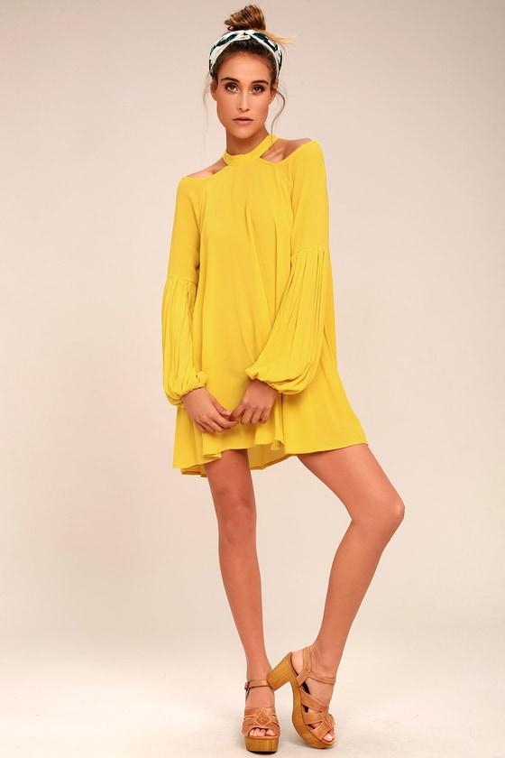 Free People Drift Away Yellow Cold Shoulder Tunic Top 4