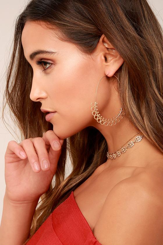 Mind's Eye Gold Threader Earrings 1