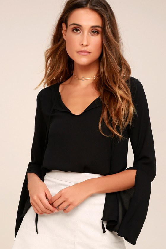 Carefully Curated Black Long Sleeve Top 7