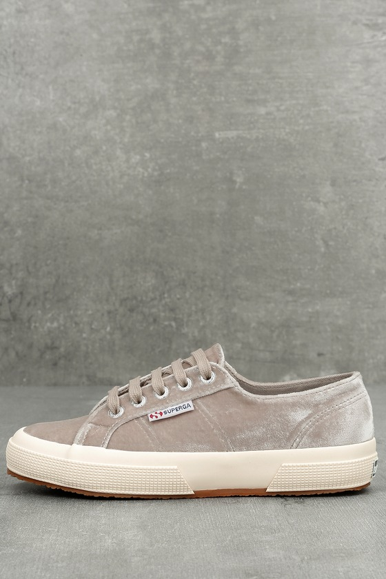 Superga 2750 Velvet Grey Sneakers 1