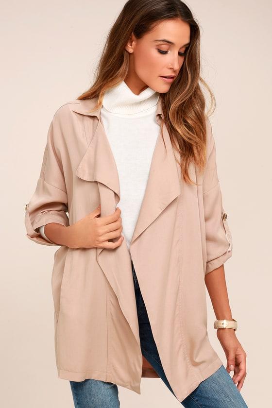 Lucky Break Blush Oversized Jacket - Lulus