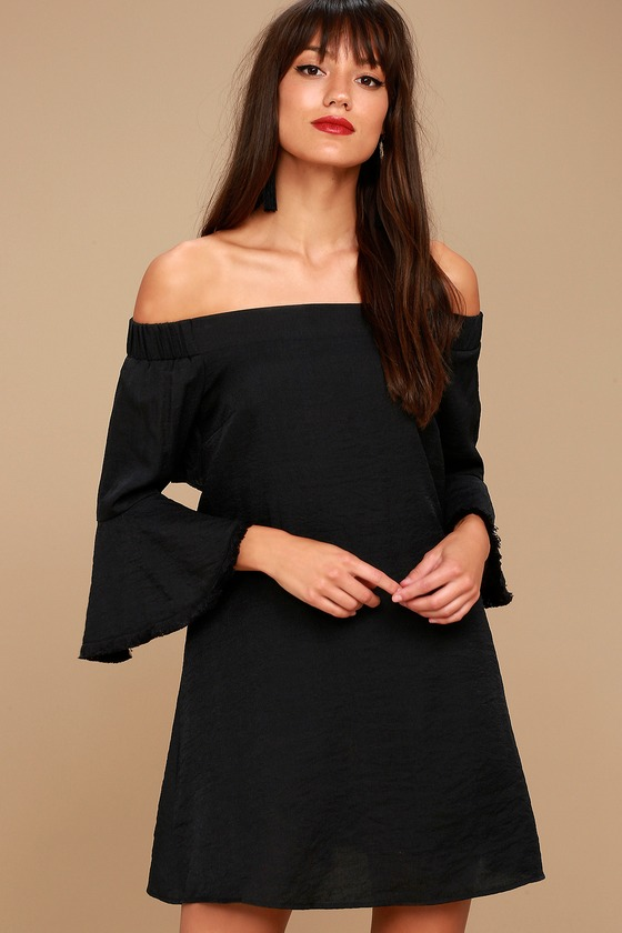 Day Out Black Off-the-Shoulder Shift Dress 2