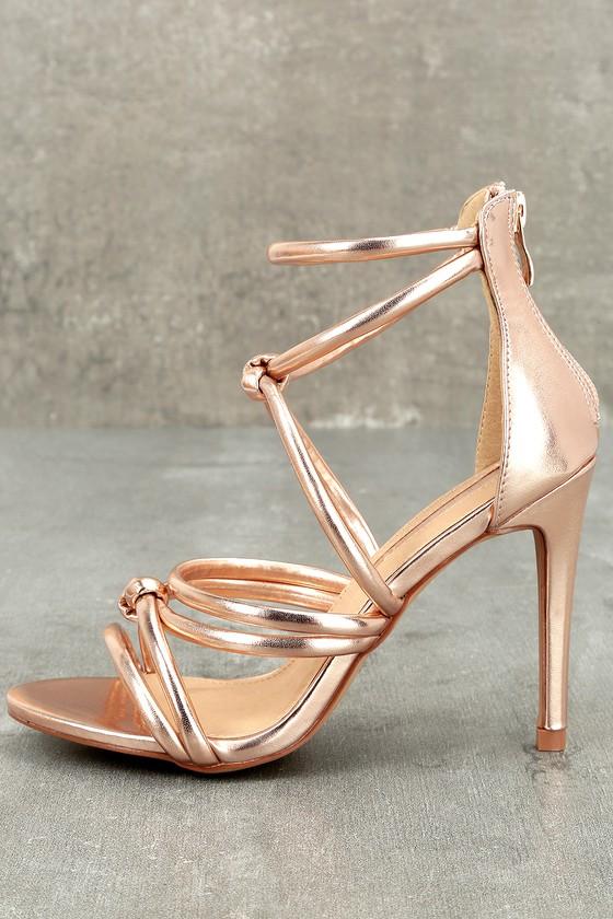 Josette Rose Gold Dress Sandals 2