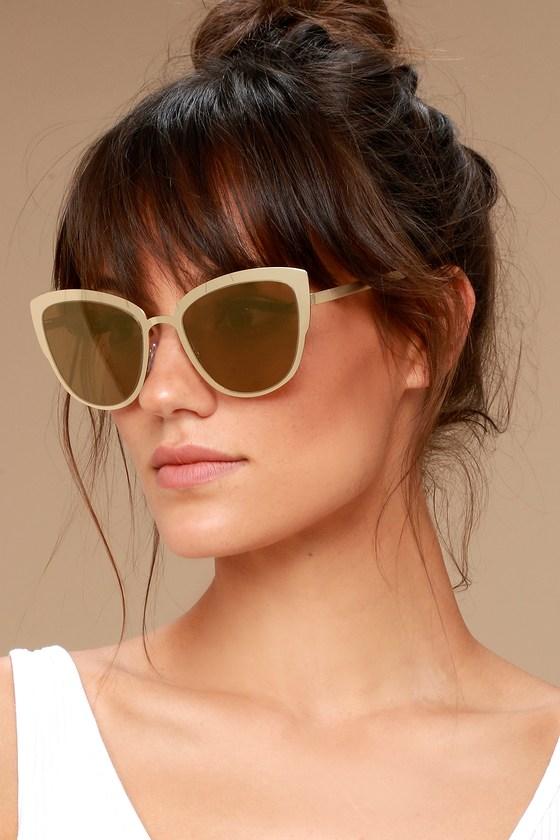 Sun Ray Gold Mirrored Sunglasses 1