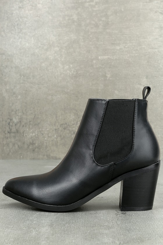 Madden Girl Barbiee Black Pointed Toe Ankle Booties 1