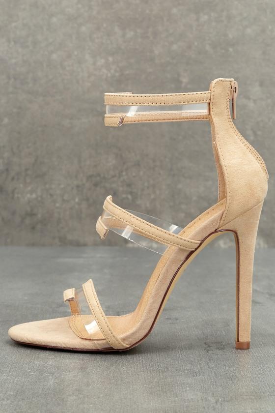 Beckett Nude Suede High Heel Sandals 5