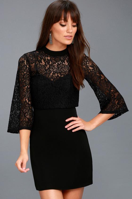 23deb87b0a4c Ali & Jay Dim All the Lights - Lace Dress - Twofer Dress