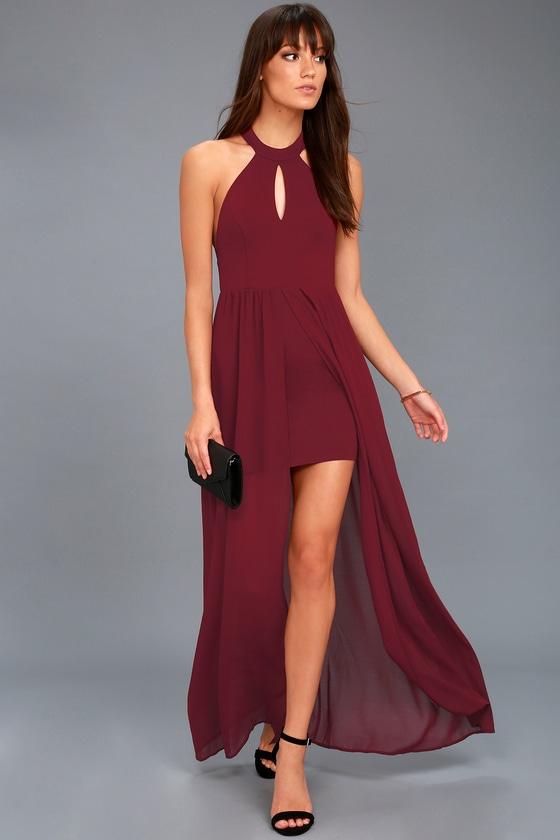 My Beloved Burgundy Lace Maxi Dress 2