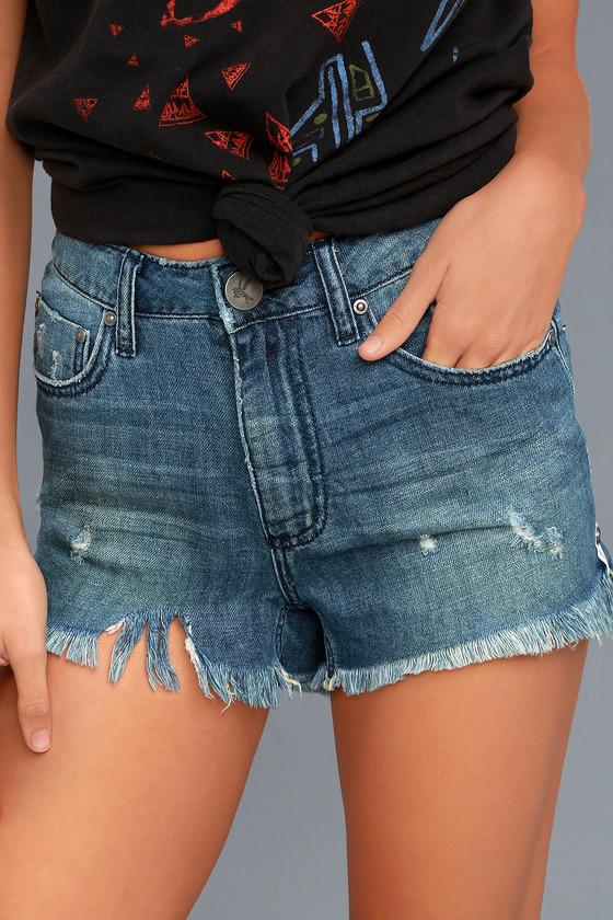 One X One Teaspoon Bonita Medium Wash Distressed Shorts 3