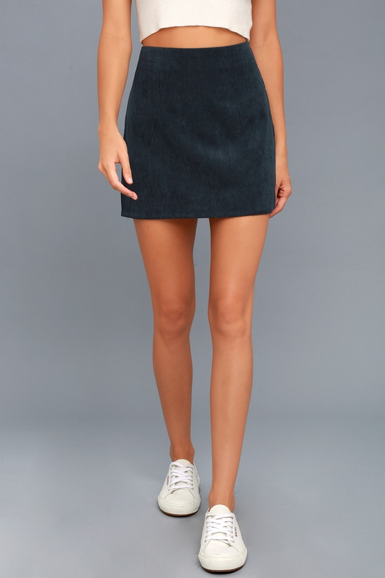 66267b9420b0 Cool Navy Blue Skirt - Corduroy Skirt - Mini Skirt