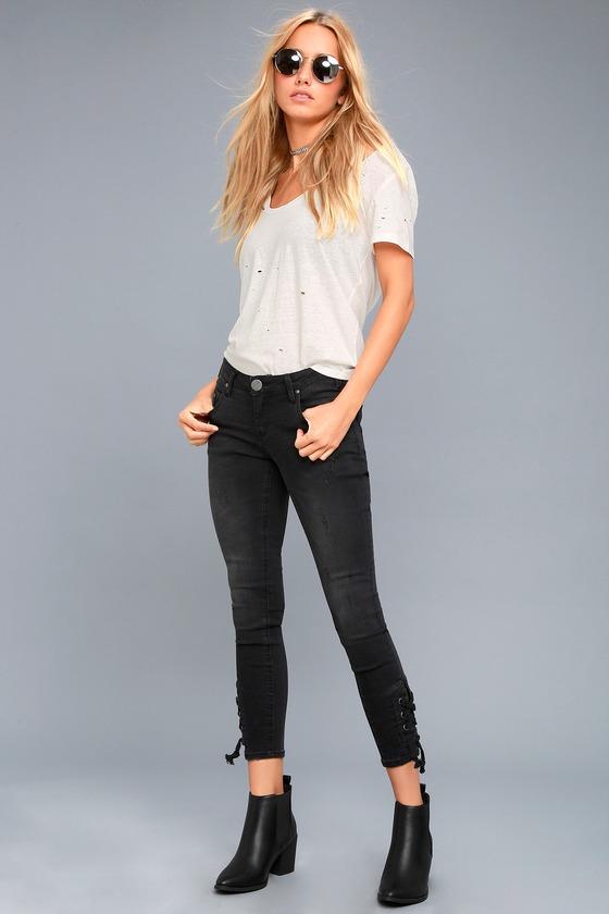 One X One Teaspoon Freebirds II Washed Black Skinny Jeans 1