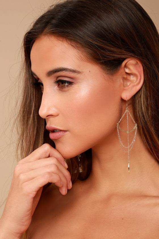 Royal Rays Gold Earrings 4