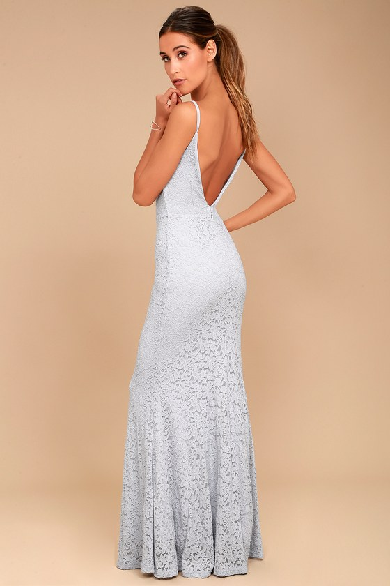 Ephemeral Allure Grey Lace Maxi Dress 6