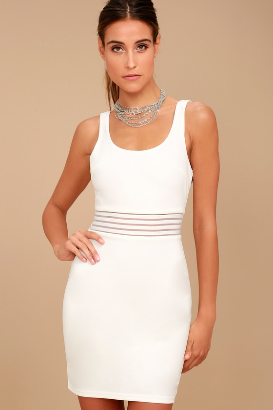 Pendulum White Bodycon Dress 6