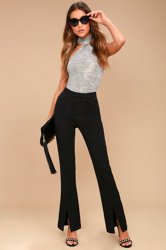 Her Life Black High Waisted Trouser Pants 1
