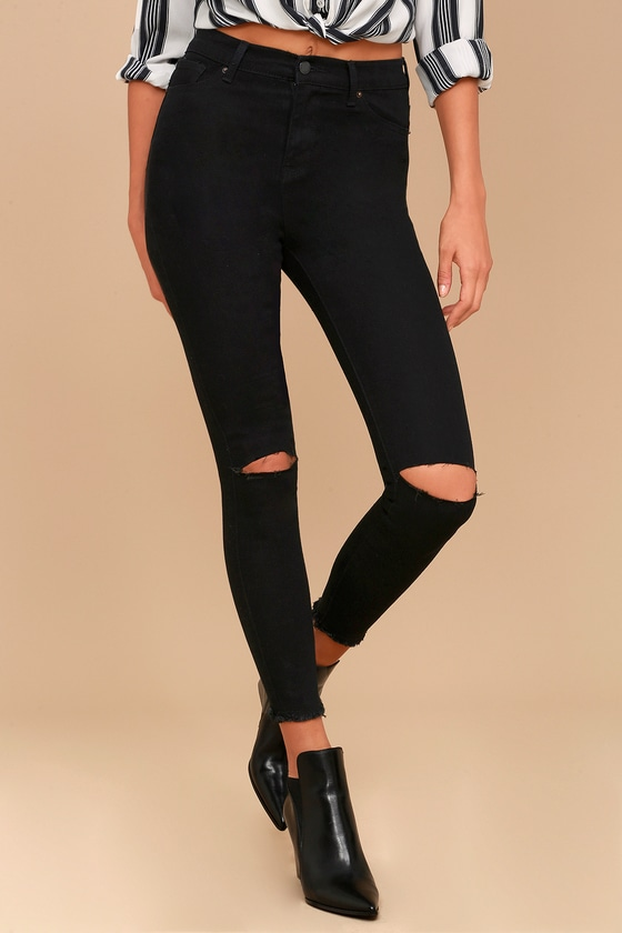 e340962fa5 Classic High-Waisted Jeans - Distressed Jeans - Skinny Jeans