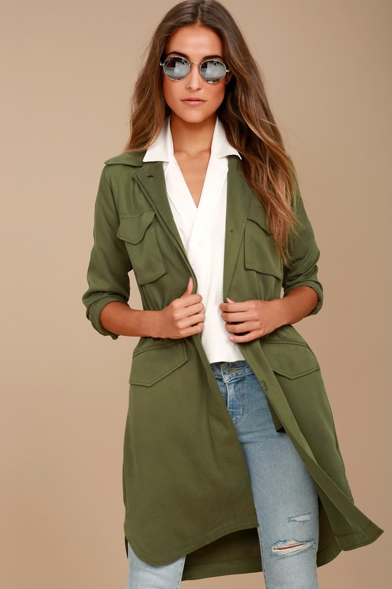 BB Dakota Averie Olive Green Utility Jacket 4