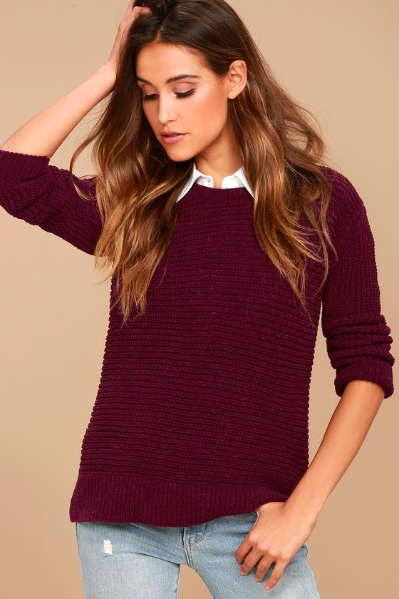 BB Dakota Briegh Plum Purple Knit Sweater 2