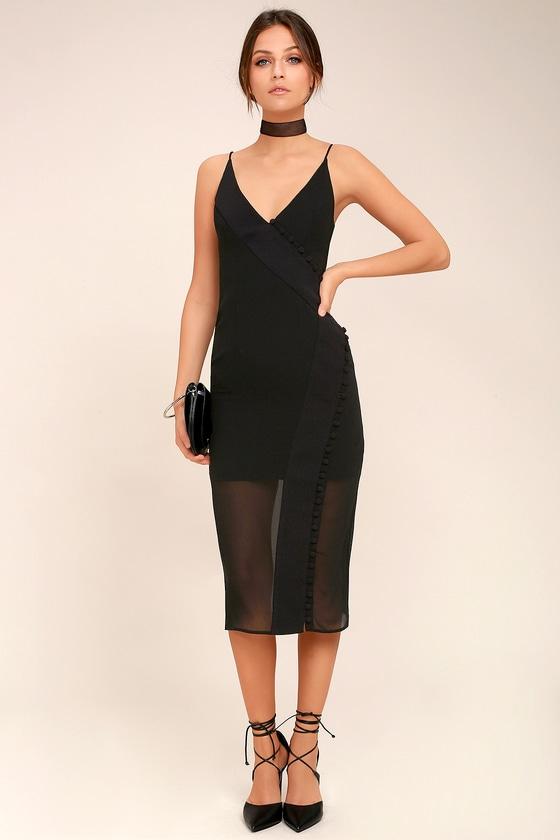 C/MEO Presence Black Sleeveless Midi Dress 2