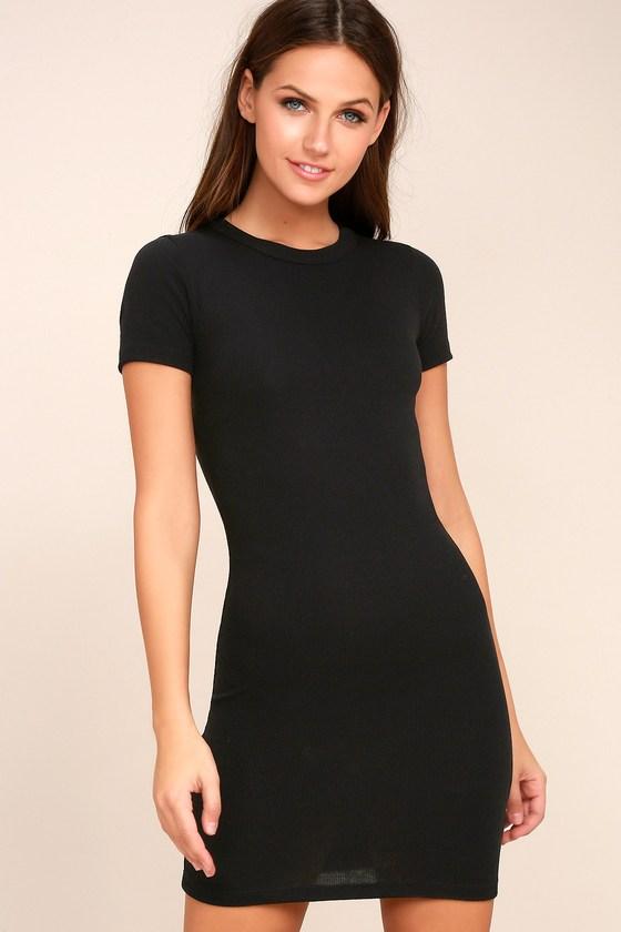 Hey Good Lookin' Short Sleeve Black Dress 8