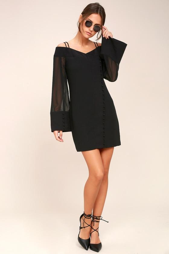 a574a6612c9 C MEO Presence Dress - Long Sleeve Dress - Mesh Dress