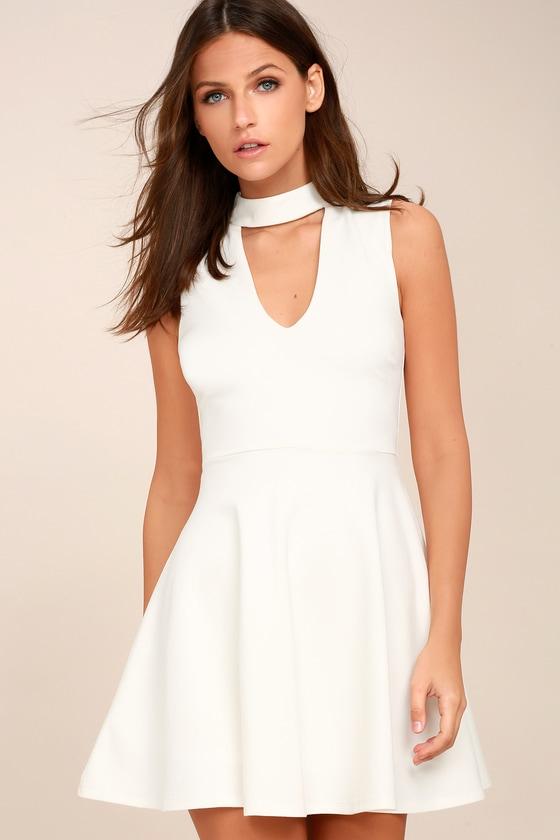Loving You is Easy White Skater Dress 1